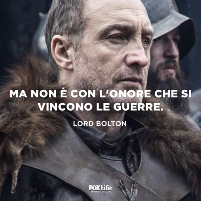 Primo piano di lord Bolton