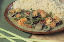 Primo piano del Curry Verde Thai