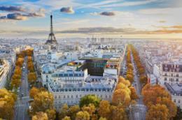 I viali alberati di Parigi in Autunno