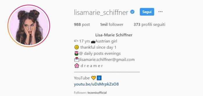 profilo instargam Lisa-Marie Schiffner