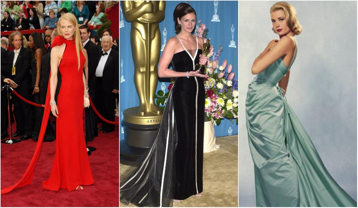 Collage abiti agli Oscar