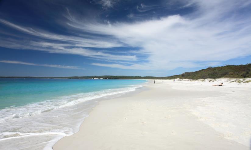 La spiaggia più bianca del mondo, Hyams Beach, si trova in Australia nel New South Wales