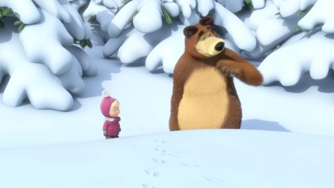 Masha e Orso nella neve