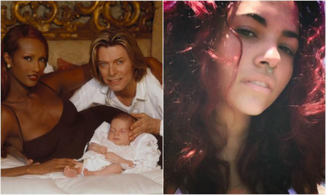 Un collage tra la famiglia di David Bowie e Lexi adesso