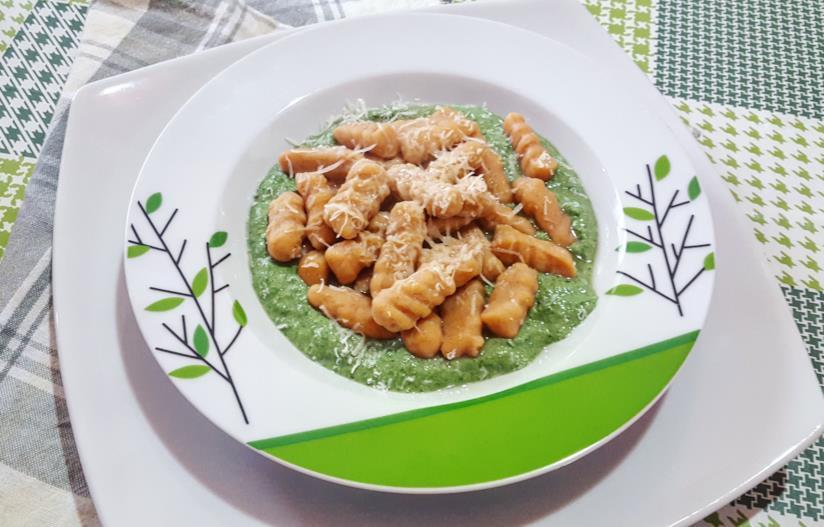 Piatto di pasta fresca