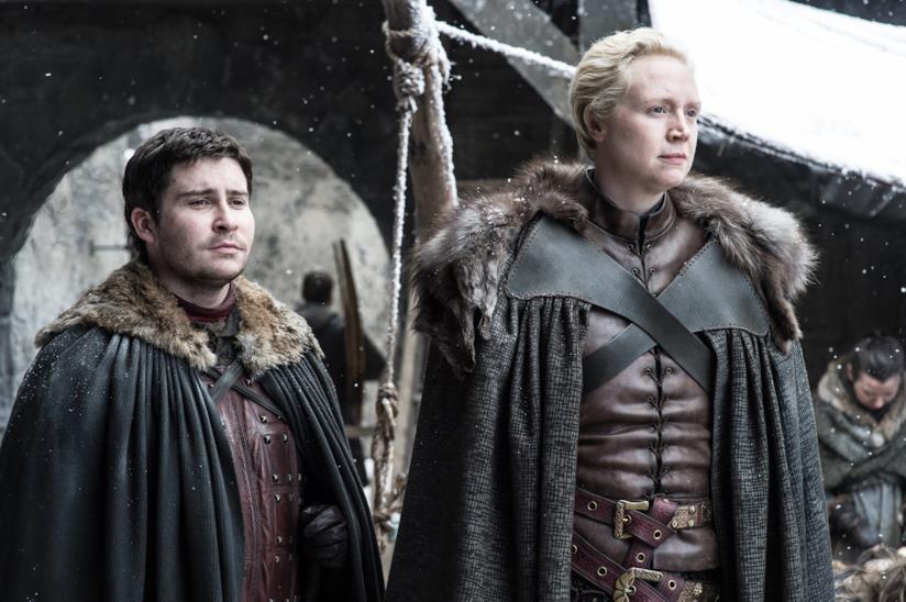 Brienne e Podrick in Il trono di spade