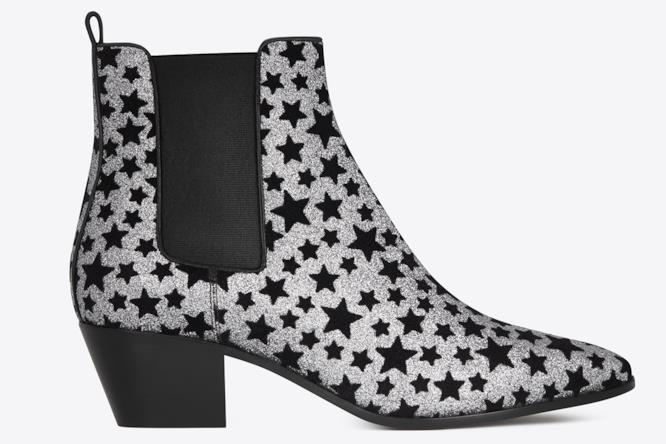 Ankle Boots Saint Laurent con stelle