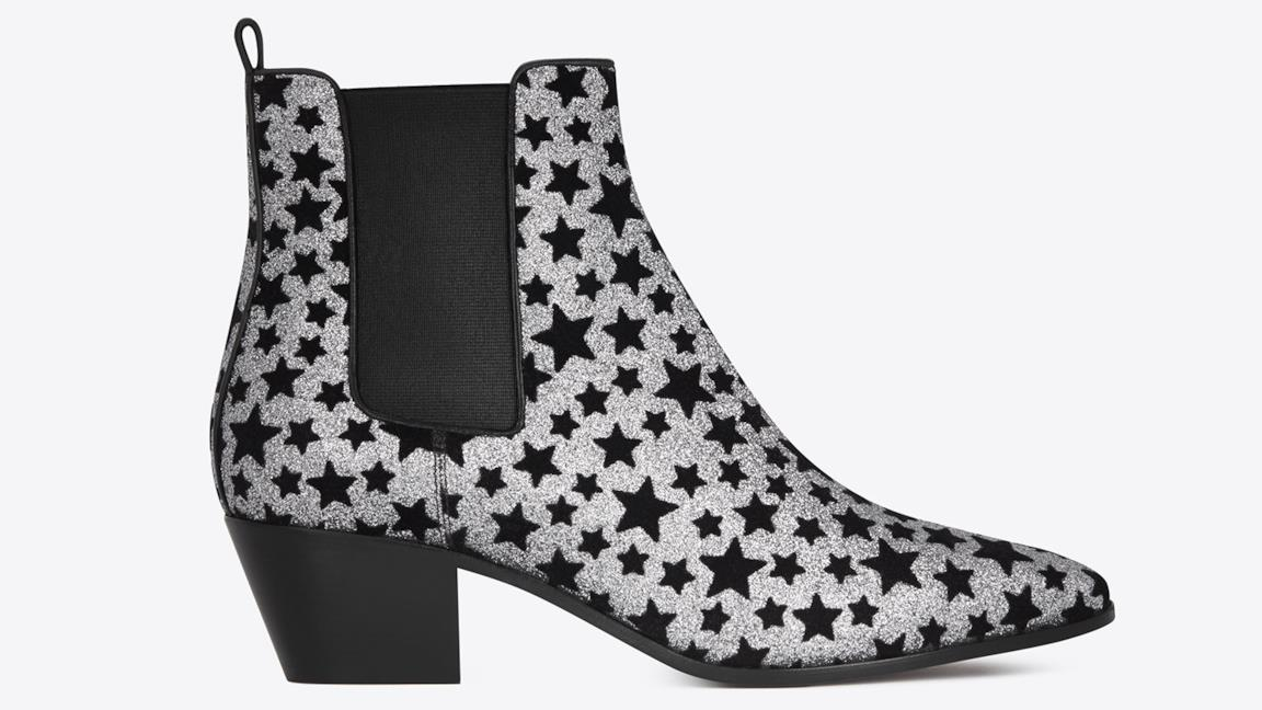 Ankle Boots Saint Laurent con stelle