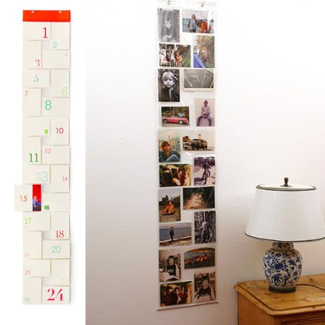 Calendario dell'avvento realizzato con il portafoto