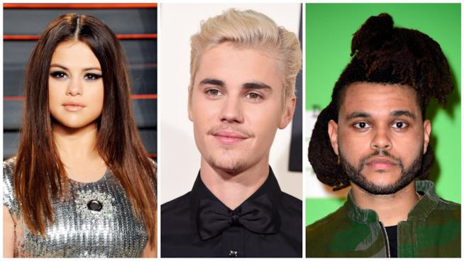 Selena Gomez, Justin Bieber e The Weeknd