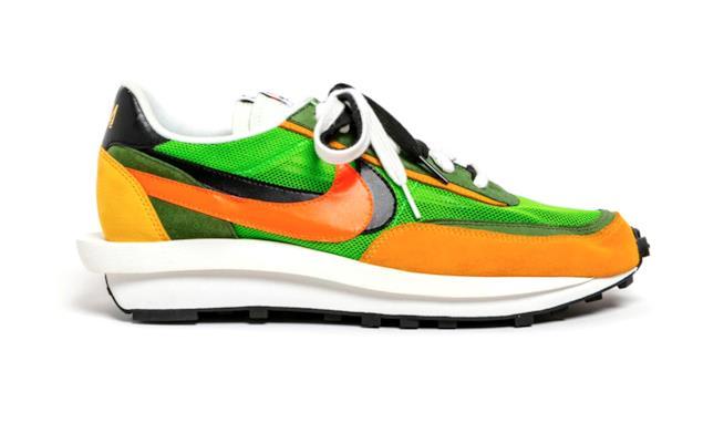 Sacai x Nike LDV Waffle Daybreak verde arancio