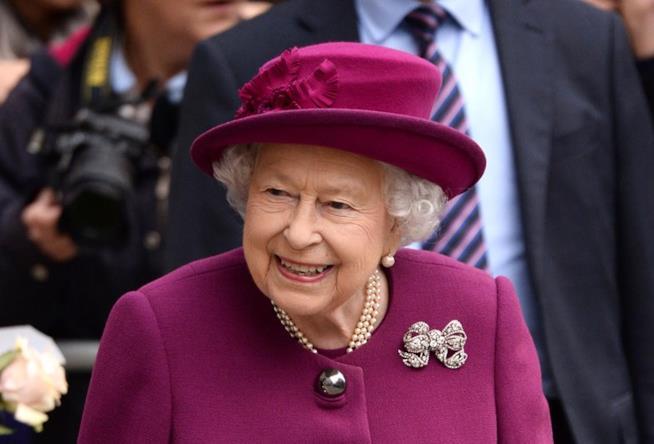 La Regina Elisabetta in primo piano