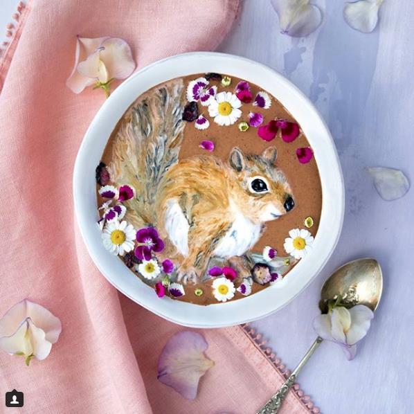 Smoothie con scoiattolo