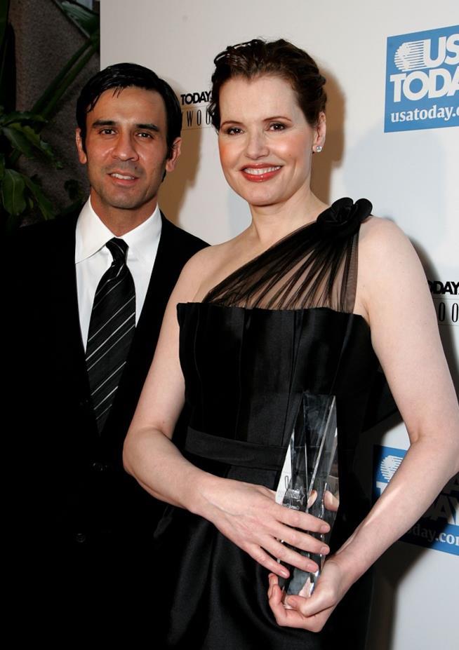 Geena Davis con l'ormai ex marito Reza Jarrahy