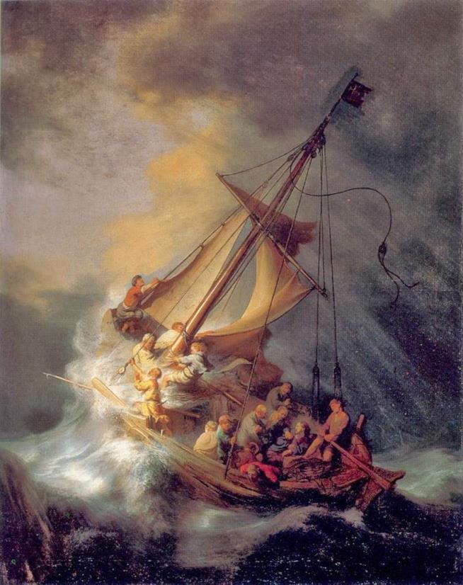 Cristo nella tempesta sul mare di Galilea di Rembrandt