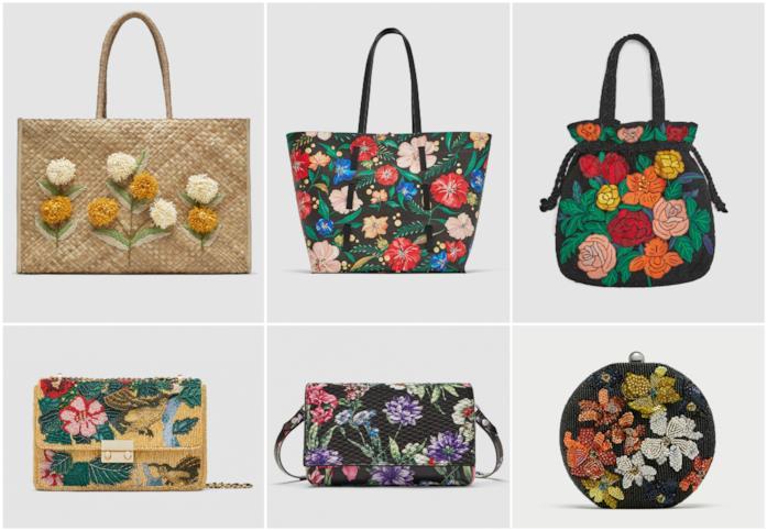 Borse a fiori moda primavera 2018