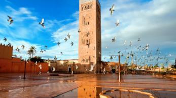 Medina della Moschea di Koutubia a Marrakech
