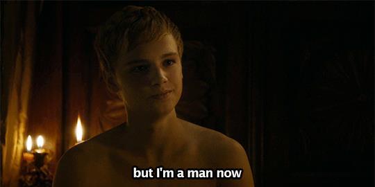 Tommen dice che è un uomo