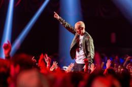 Eminem durante una esibizione live