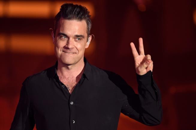 Il cantante Robbie Williams