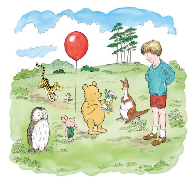 Winnie nelle illustrazioni dei libri