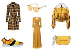 Vestiti e accessori giallo senape