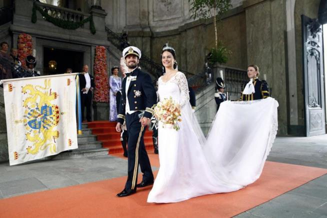 Sofia Hellqvist e Carl Philip di Svezia sposi