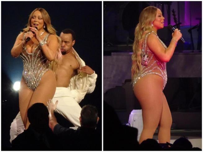 Mariah Carey durante lo show di Las Vegas