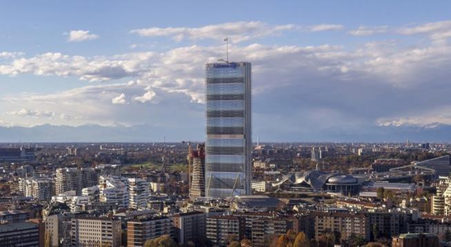 Skyline Milano, Torre Isozaki o grattacielo Allianz, panorama