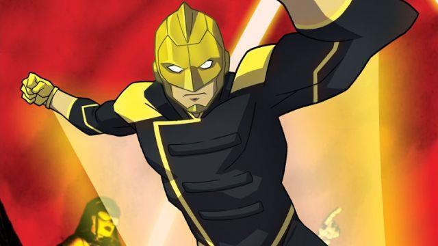 Un'immagine dei fumetti DC con il supereroe The Ray