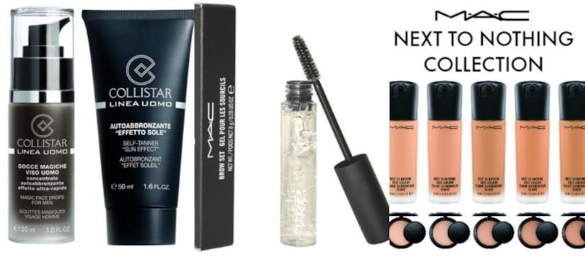 Prodotti per make up da uomo Collistar e Mac