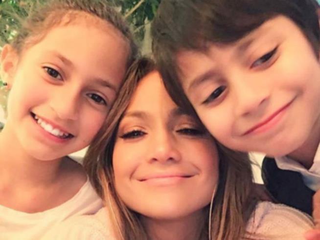 Jennifer Lopez con i figli