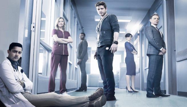 Una scena della serie TV The Resident