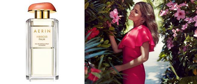 il brand AERIN della nipote di Estée Lauder ha creato una nuova edp Hibiscus Palm con latte di cocco e ibisco
