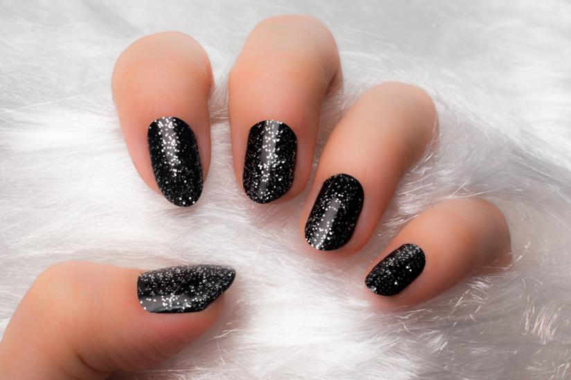 Unghie silver e nero