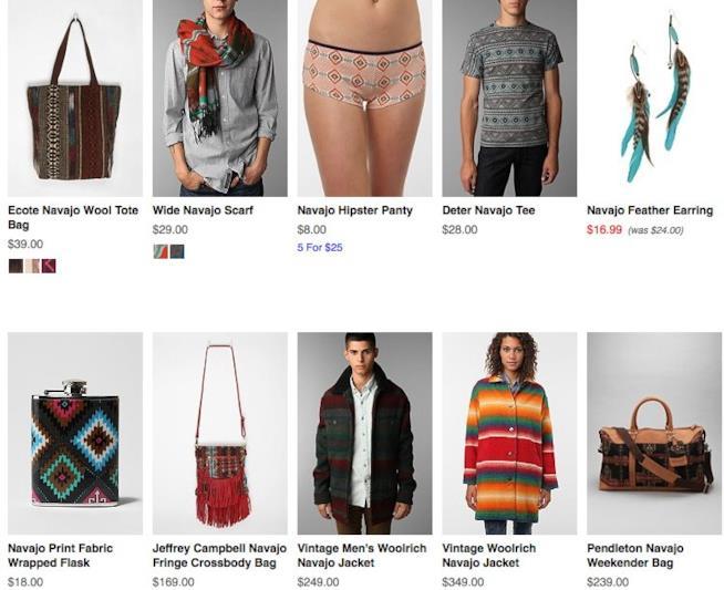 La collezione di Urban Outfiters ispirata ai Navajo