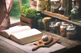 Libro in cucina