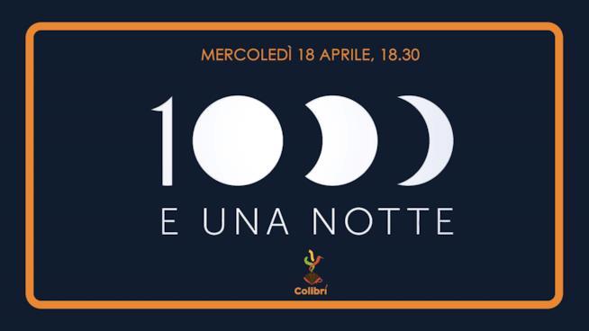 La locandina della festa di La festa di 1000eunanotte al Colibrì di Milano