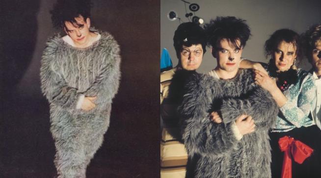 Robert Smith indossa un costume d'animale molto Furry in un video musicale.