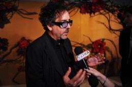 Il regista Tim Burton al MoMA di New York