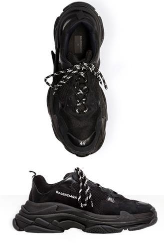 Sneakers Triple S - total black