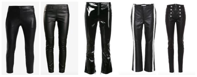 Collage pantaloni in pelle