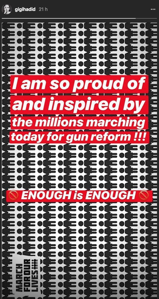 Il messaggio di Gigi Hadid per #MarchForOurLive