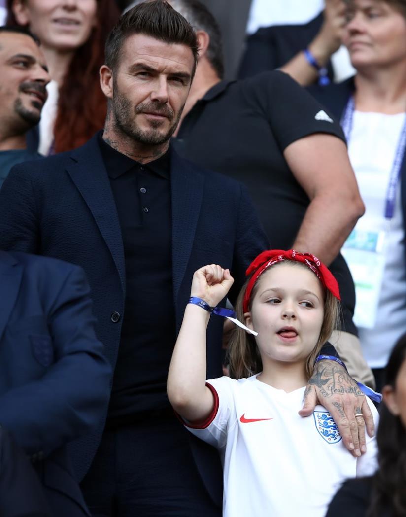 Harper e David Beckham allo stadio