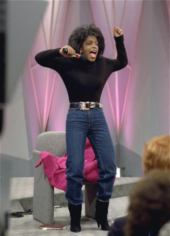 La conduttrice Oprah Winfrey