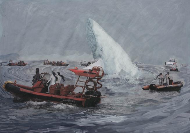Un'immagine pittorica di Rokni Haerizadeh