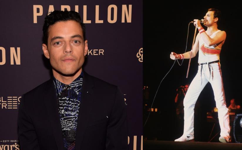 Rami Malek e Freddie Mercury in concerto
