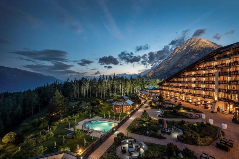 Il panorama dell'Interalpen-Hotel Tyrol