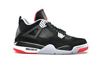 Laterale Air Jordan 4 Bred