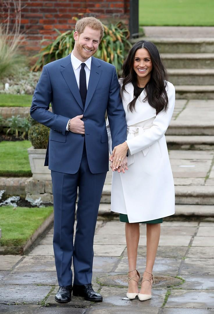 Harry e Meghan Markle nell'annuncio del fidanzamento